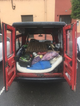 Van packed